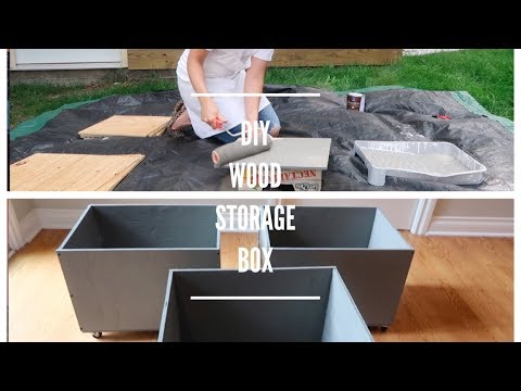 DIY WOOD STORAGE BOX on WHEELS | EASY AND LOW COST