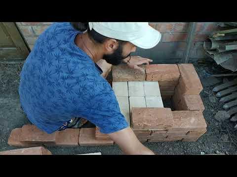 Печь садовая печь из кирпича своими руками