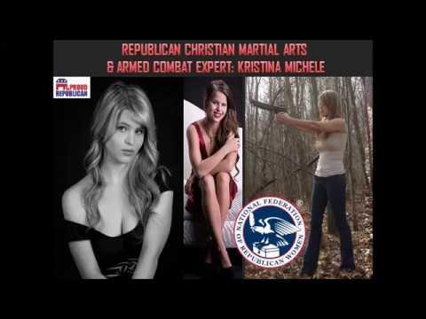 Republican Women's Self Defense VS Democrat Thugs. Feat. Kristina