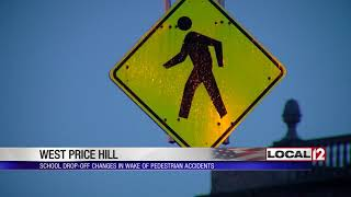 Student drop-offs at local school changes in attempt to cut down on pedestrian accidents