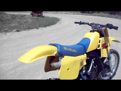 84 suzuki rm-125,  awesome post vintage legal race bike--$750