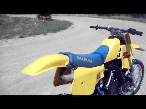 84 suzuki rm-125,  awesome post vintage legal race bike--$750