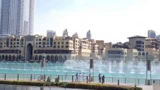 Dubai Water Fountains & Burj Khalifa Dec 2013 Day Time