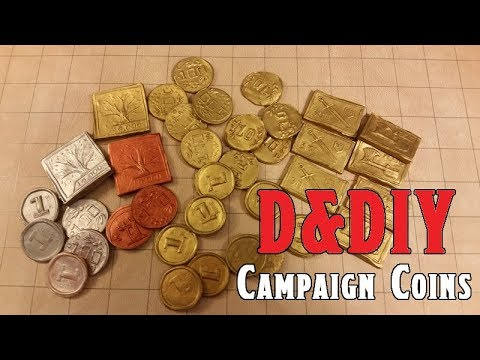 Make Your Own Campaign Coins, D&DIY Episode 1