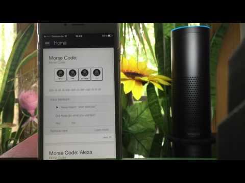 Morse code with Amazon Echo - Alexa teaches you how to Morse code