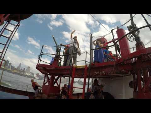 Fireboat tour of the Hudson for City of Water Day 2017