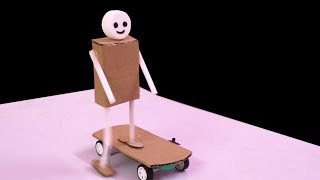 How to Make a Robot Skate DIY at Home | Easy Skate Robot with Cardboard