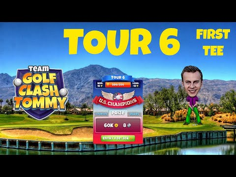 Golf Clash tips, Hole 1 - Par 4, Southern Pines - US Champions, Tour 6 - GUIDE/TUTORIAL