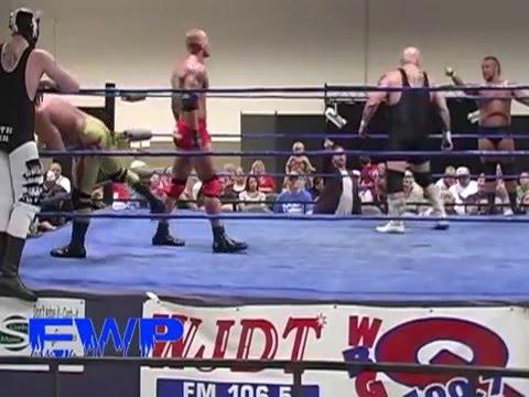 EWP Wrestling 6 man elimination CRIMSON Tommy Mercer Jerry Lynn Shawn Shultz