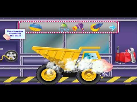 Развивающий мультфильм. Автомойка и Спа Салон для БОЛЬШУЩЕГО ГРУЗОВИКА.  Машинки для детей