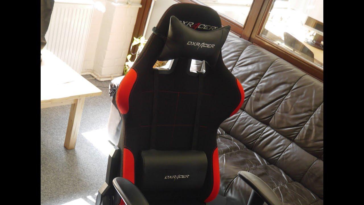 Aufbau Des Gaming Chairs Dxracer Ohfd01nr Der Formula Serie