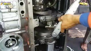 PROSES PERAKITAN MESIN NISSAN DIESEL V8/RF8#bayuputramotor