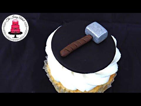Thor Hammer Cupcake Topper
