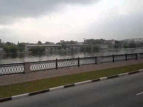 Москва река. Взгляд из салона автобуса Москва - Саратов