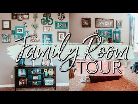 FARMHOUSE HOUSE TOUR 2019| OUR FAMILY ROOM TOUR|KIDS PLAYROOM ORGANIZATION IDEAS