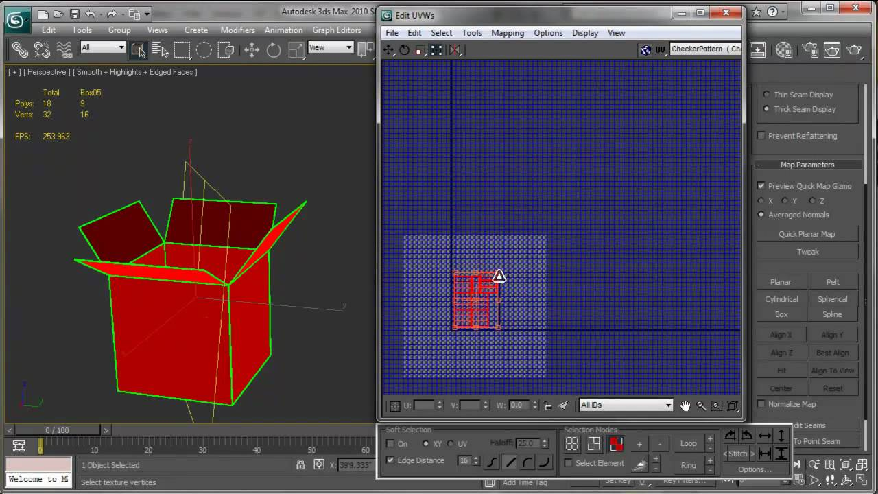 Uvw unwrap en 3d max tutorial youtube for Tutorial 3d max