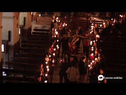 VÍDEO: Cuaresma Lucena 2020: Viacrucis de las Familias de la Cofradía de la Sangre en Santo Domingo