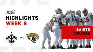 Saints Defense Holds Jags to Only 6 Points | NFL 2019 Highlights
