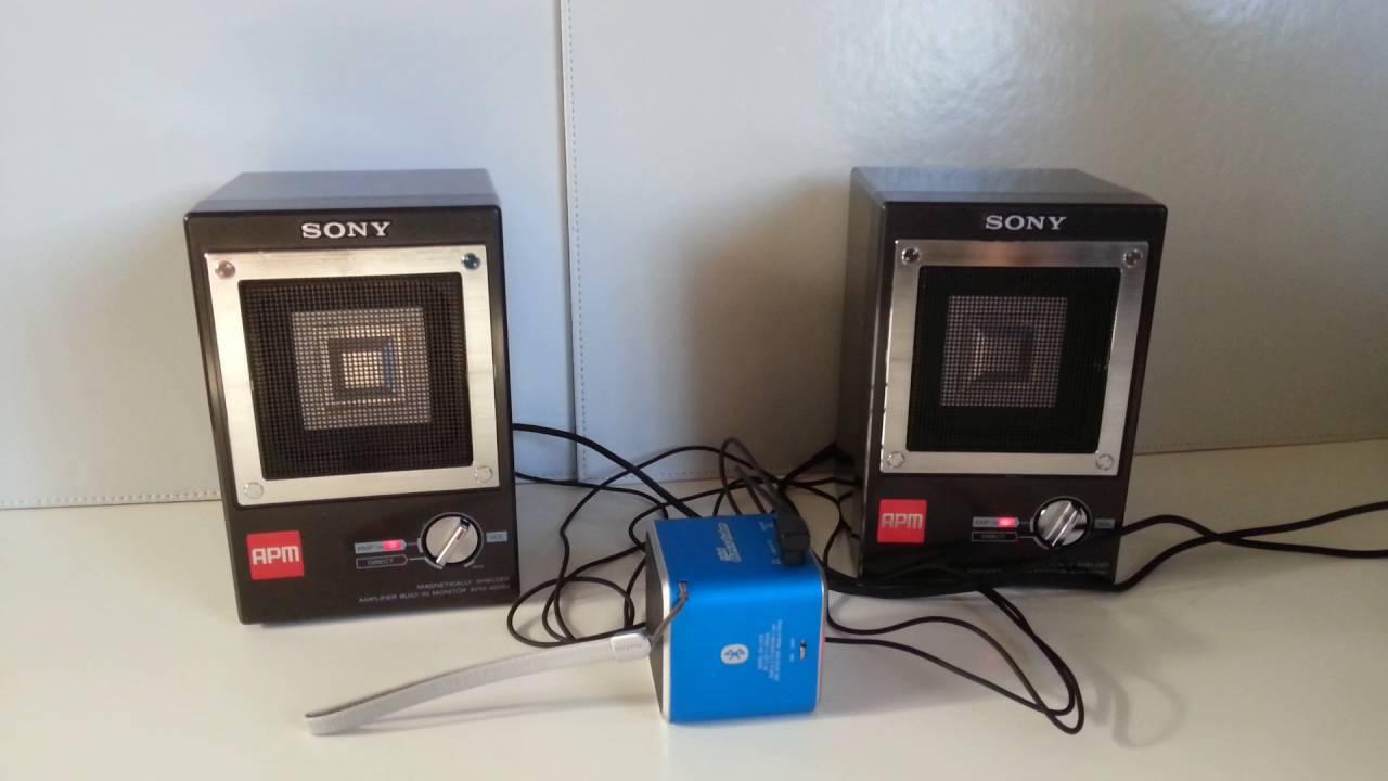 sony apm 007 kleine aktiv boxen lautsprecher speaker. Black Bedroom Furniture Sets. Home Design Ideas