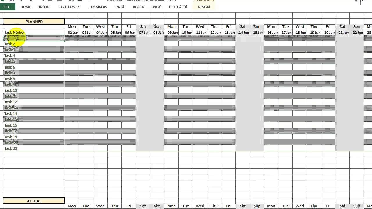 also video gantt chart planned vs actual youtube rh