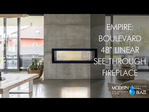 Empire Boulevard 48 inch Linear See-Through Vent-Free  Gas Fireplace