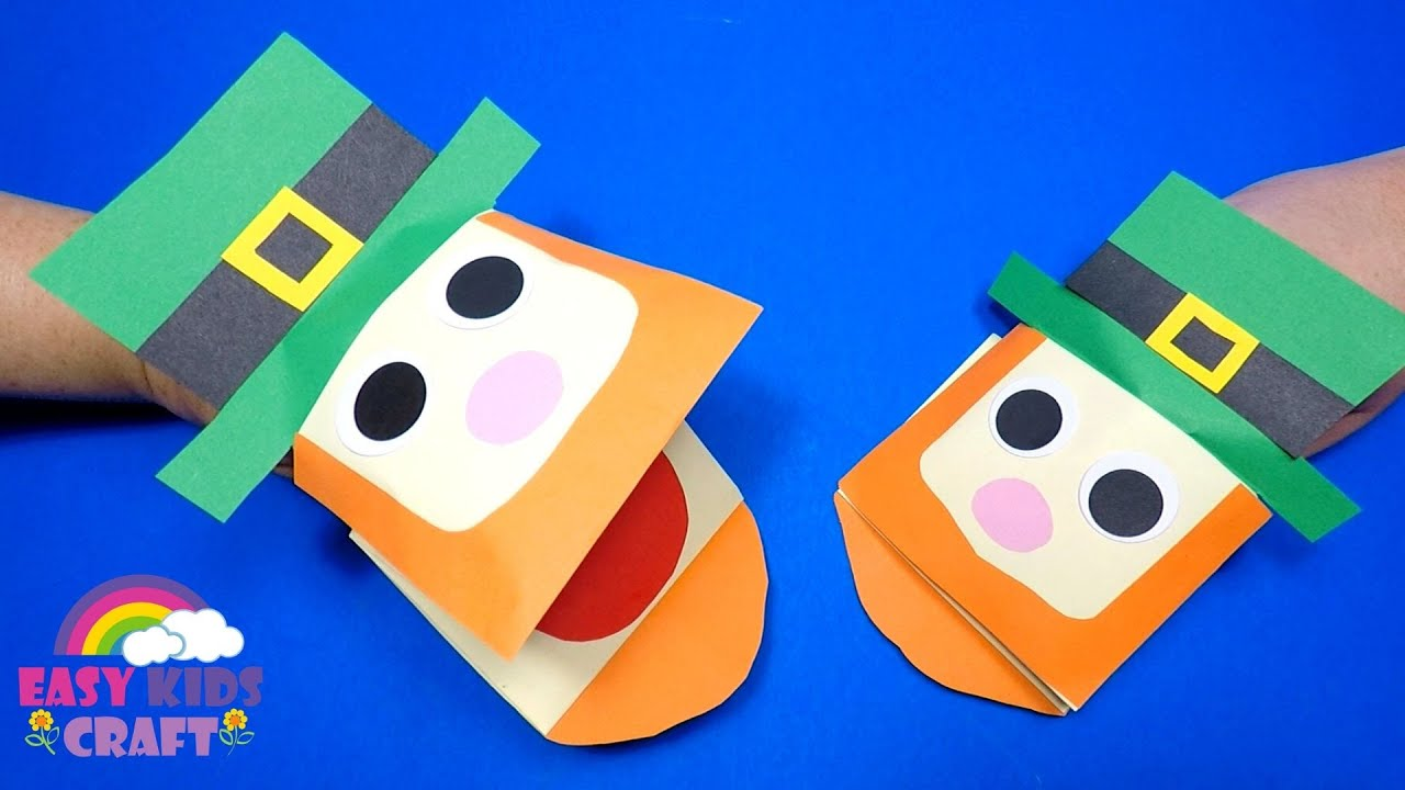 How To Make A Paper Leprechaun Hand Puppet St Patrick S Day