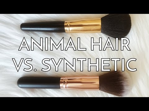 ANIMAL VS. SYNTHETIC MAKEUP BRUSHES