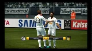 PES 2012 Demo PC Gameplay - Santos x Peñarol - Parte 1