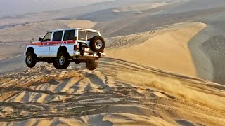 Offroad Jumps in Nissan Patrol TB48 on Sand Dunes