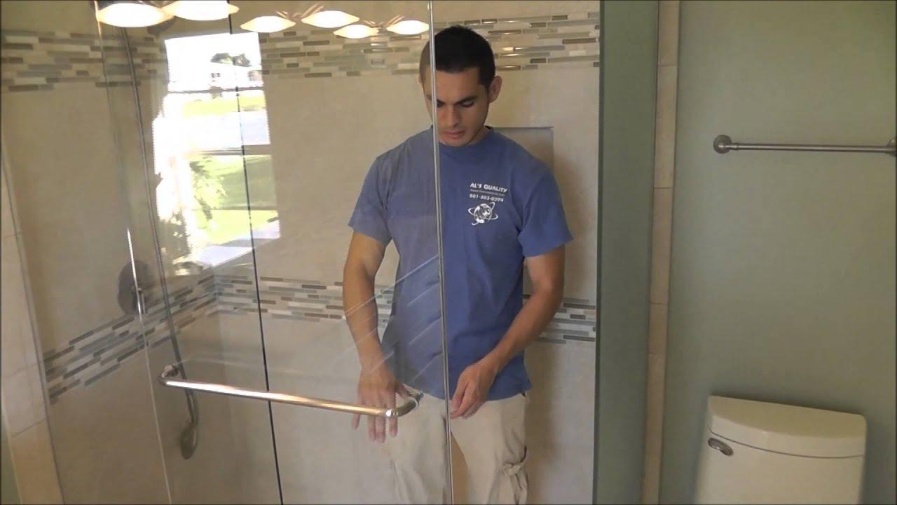 CRL Hydroslide Custom Frameless Sliding Shower Doors   YouTube