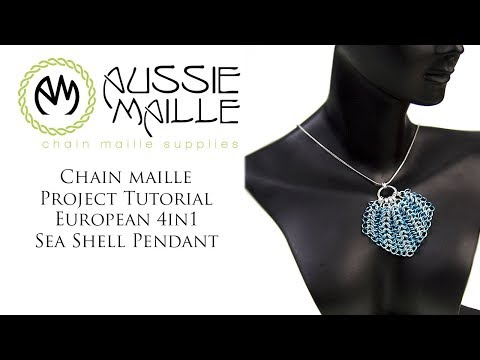 Chain Maille Tutorial - Sea Shell Pendant