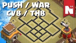 Clash of Clans - Melhor Layout PUSH / WAR - CV8 / TH8