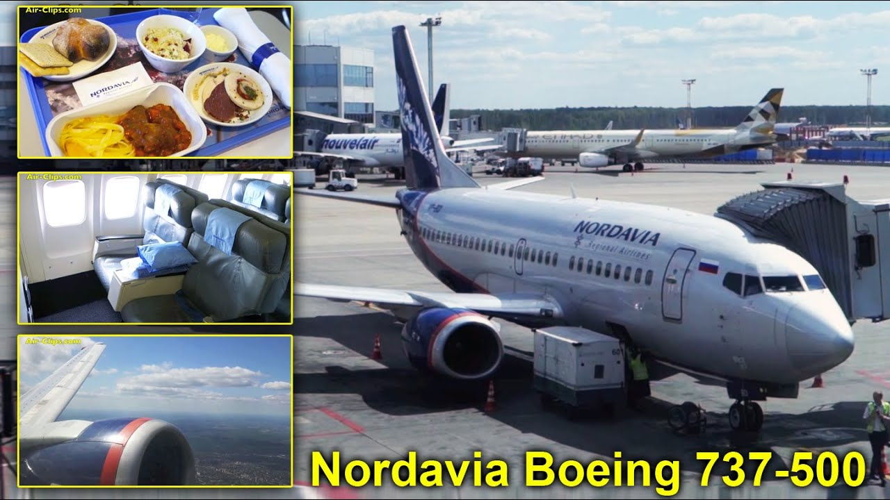 Nordavia Boeing 737 500 Aeroflot Nord Business Class Dme Archangelsk Airclips Full Flight Series Youtube