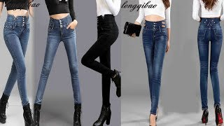 Female high waist pants trousers stretch large yards Slim pencil pants Review
