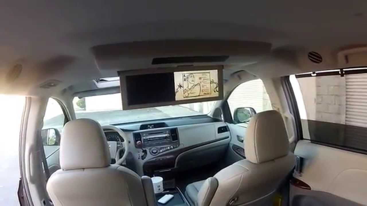 2nd Row Seat Features Tour 2011 Toyota Sienna XLE AWD ...