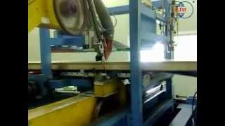 Polyurethane Mineral Wool l sandwich panel production line band saw cutting machine