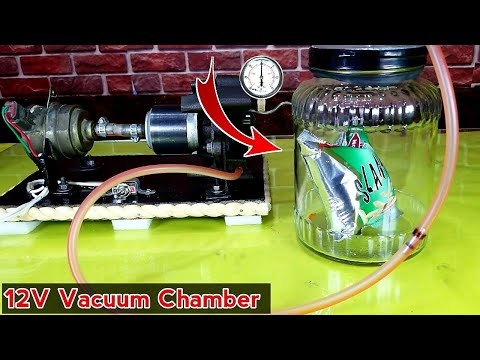 How To Make Electric Vacuum Chamber - From Refrigerator Compressor