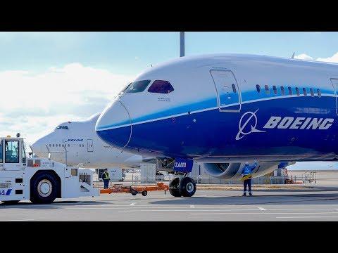 [4K]AIRCRAFT MOVING EVENT ボーイング787の大移動 前半