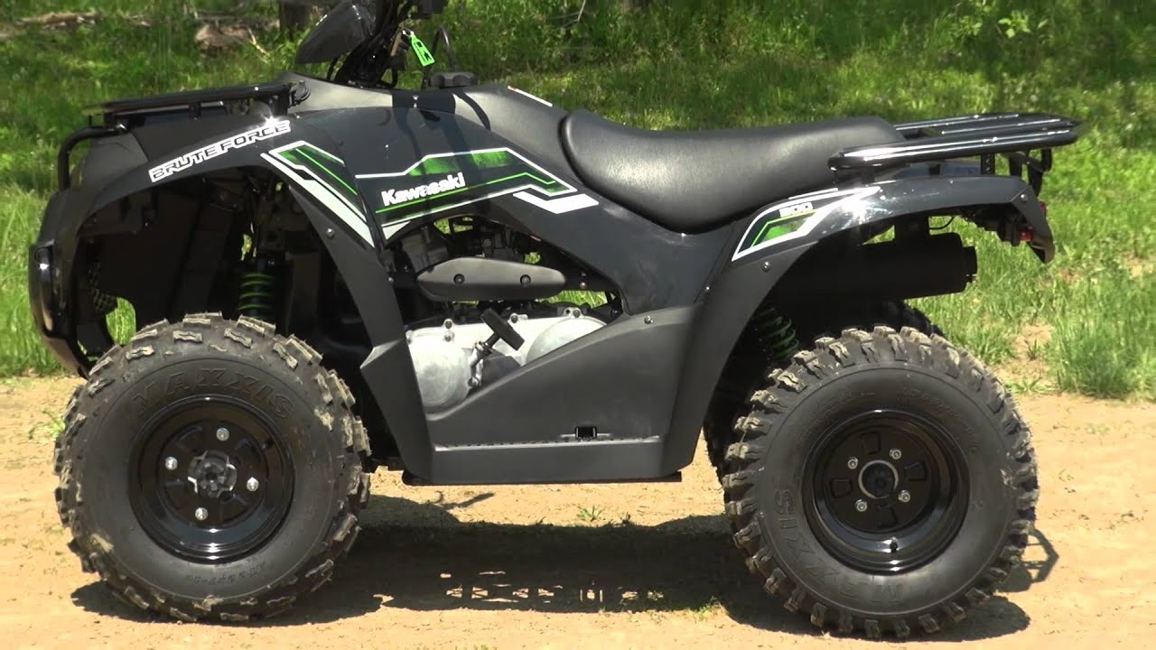2015 kawasaki brute force 300 test - youtube