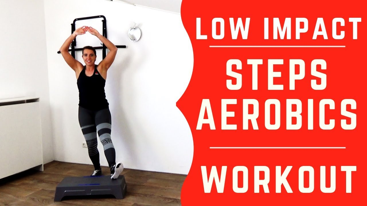 20 Minutes Low Impact Steps Aerobic Workout No Jumping Youtube