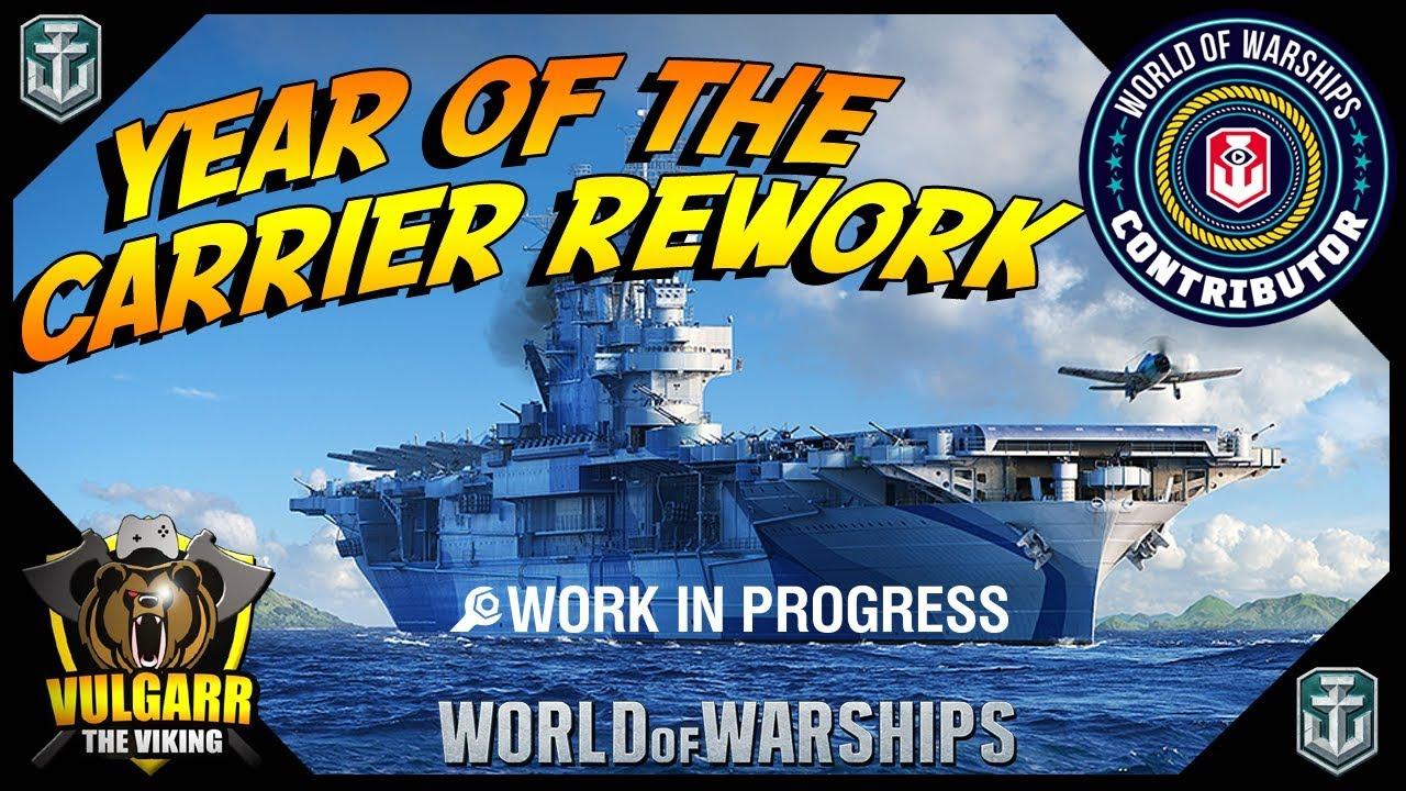 world of warships - cv rework world premier