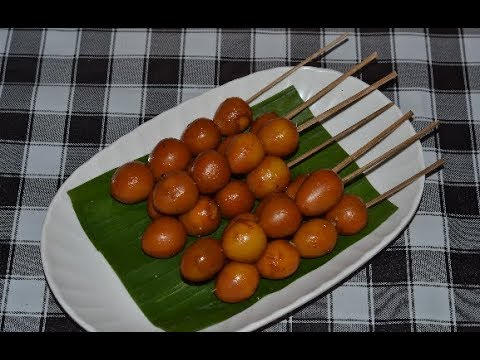 Resep Sate Telur Puyuh Bacem Angkringan