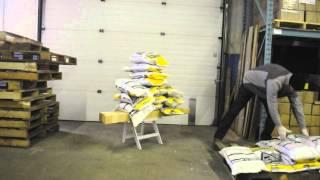White Resin Folding Chair Stress Test