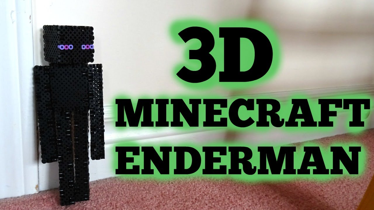 3D Perler Bead Minecraft Enderman Figure (FULL TUTORIAL)