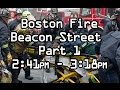 Part 1. Boston Fire Department Beacon St Dispatch Audio and Maydays LODD 3/26/2014