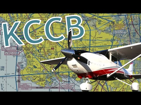 Landing at Cable Airport (KCCB) in HD