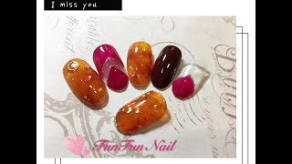 nails tutorial-秋冬琥珀凝膠美甲【小花兒 FunFun Nailの生活記趣】美甲教學ˍGel Nails
