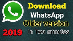 How to Download Whatsapp in Older version. Whatsapp ko older version me kaise Download kare. Easily