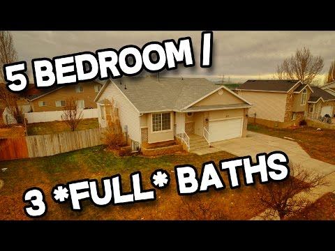 5 Bedroom, 3 Bathroom Clinton Utah Home For Sale with Open Floor Plan