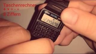 Casio CA 53 W Calculator Watch Time Date Adjust
